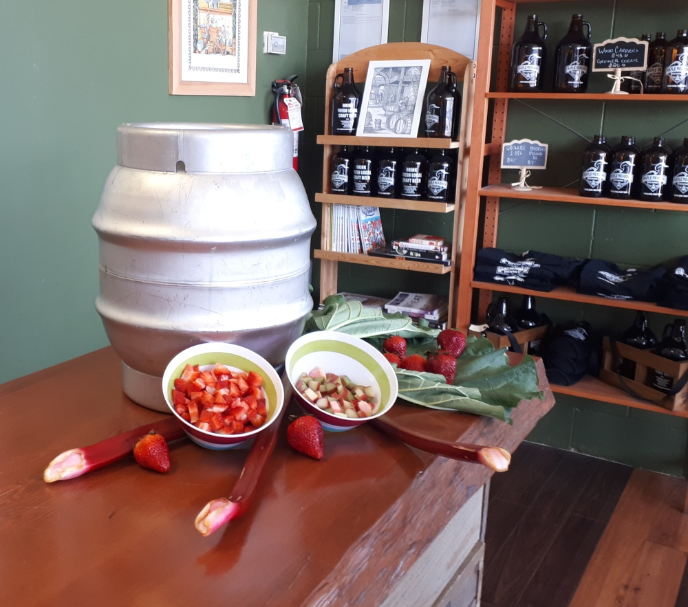 Maple Meadows Brewing - Cask event, strawberry rhubarb IPA, Vancouver Microbrewery