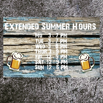 Maple Meadows Brewing Company summer beer drinking hours
