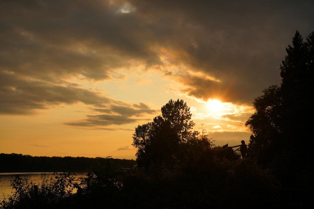 29 - Sunset from Kingfishers Waterfront Bar & Grill - General Maple Ridge - BC Ale Trail.JPG